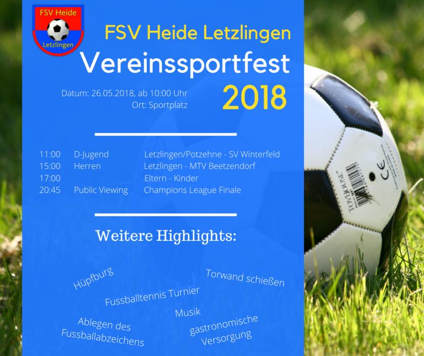 Vereinssportfest am 26.05.